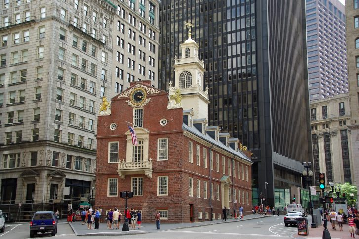 Das Old State House in Boston.