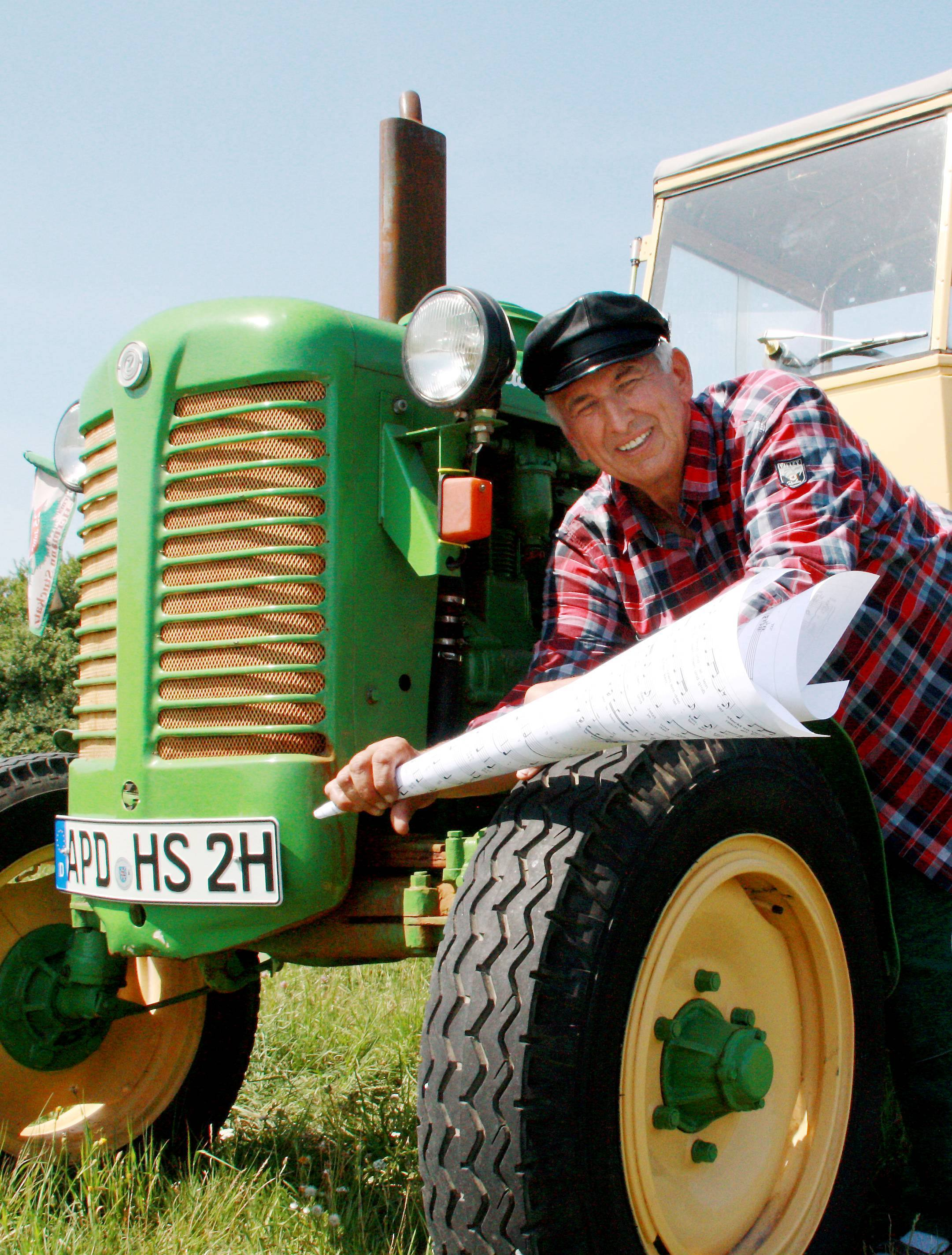 Herrmann Stuckatz am Zetor