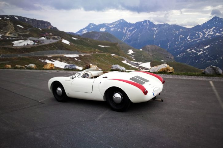 – Star in Zell am See: der Porsche 550 Spyder